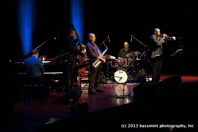 quintet on stage – unedited
